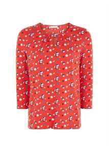 Bluebell Top Red Multi