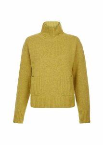 Carla Wool Blend Sweater Ochre Melange