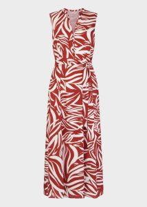 Shelly Dress Rust Ivory
