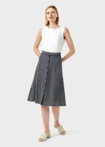 Monroe Skirt Navy Ivory