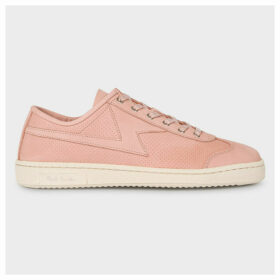 Women's Powder Pink 'Ziggy' Leather Trainers