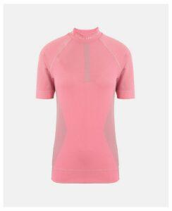 Stella McCartney Pink Pink Running Knit T-shirt, Women's, Size L