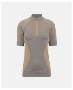 Stella McCartney Brown Brown Knit Running T-shirt, Women's, Size L
