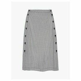 Gerard Darel Tessa Button Detail A Line Skirt, Black/White