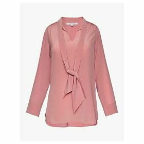 Gerard Darel Maddie Silk Tie Neck Blouse, Carnation