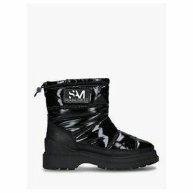 Sam Edelman Carlton Patent Snow Boots, Black