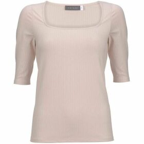 Mint Velvet Blush Square Neck Ribbed Top