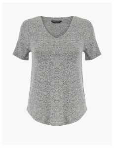 M&S Collection Luxe Touch V Neck T-Shirt