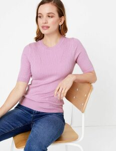 M&S Collection PETITE Ribbed Jumper