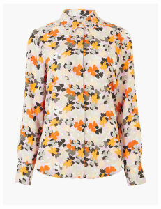 M&S Collection Petite Floral Long Sleeve Blouse