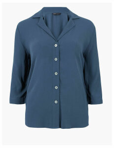M&S Collection 3/4 Sleeve Relaxed Shirt