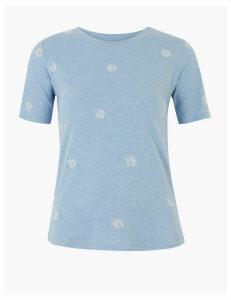Per Una Cotton Embroidered T-Shirt