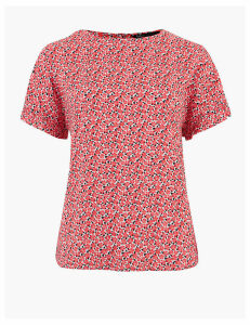 M&S Collection Woven Ditsy Floral Short Sleeve Blouse