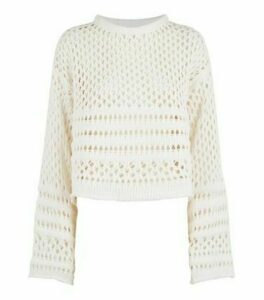 Sunshine Soul Off White Chenille Pointelle Knit Jumper New Look
