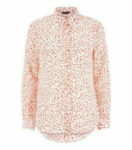 White Heart Print Shirt New Look