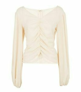 NA-KD Pale Pink Ruched Pleated Blouse New Look