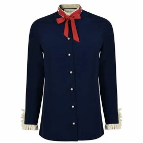 Gucci Silk Neck Tie Blouse