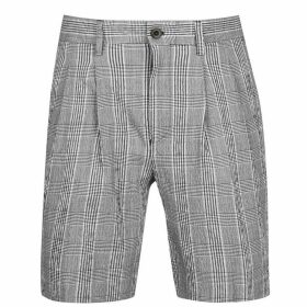 Farah Vintage Check Shorts - 006 Deep Black