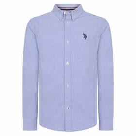 US Polo Assn US Long Sleeve Oxford Shirt - Blue