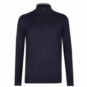 Calvin Klein Golf CK QZ Cotton Swtr Sn 00 - Denim