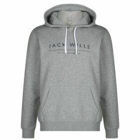 Jack Wills Batsford Wills Popover Hoodie - Grey Marl