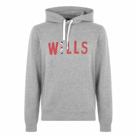 Jack Wills Badrick Graphic Hoodie - Grey Marl