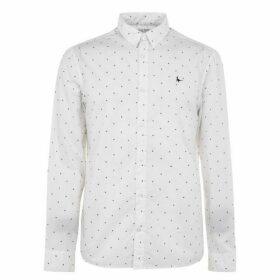 Jack Wills Ramsay Poplin Multi Print Shirt - White