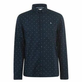 Jack Wills Ramsay Poplin Multi Print Shirt - Navy