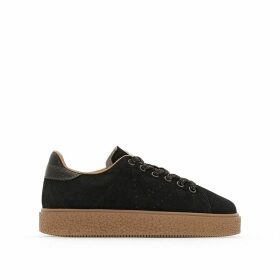 Deportivo Serraje Leather Platform Trainers