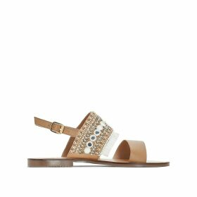 Leather Sandals with Fringing
