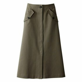Long Buttoned Skirt