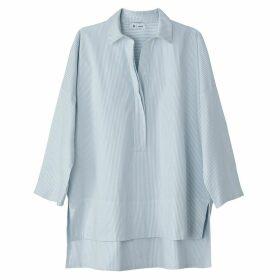 Striped Cotton Drop Back Shirt