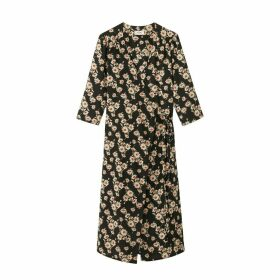 Please Floral Print Wrapover Dress