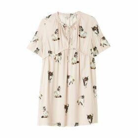 Fanfan Printed Short-Sleeved Dress