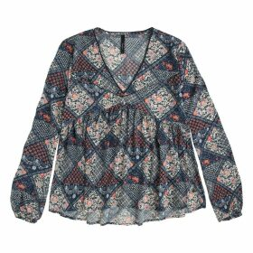Long-Sleeved Printed Blouse