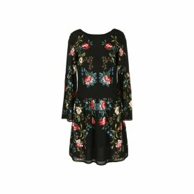 Floral Printed Dress with Lace Detail