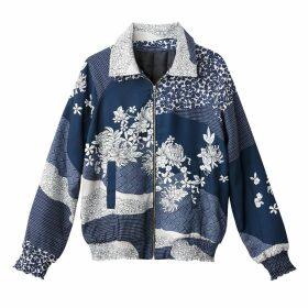 Floral Print Satin Bomber Jacket