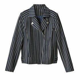 Striped Biker Jacket