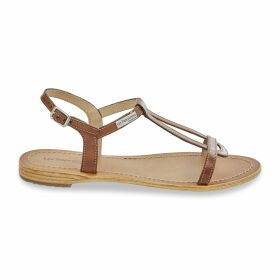 Hamesss Leather Flat Sandals with Sling-Back