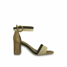 Dalina Leather Heeled Sandals with Ankle Strap