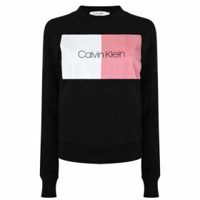 Calvin Klein Two Tone Logo Sweatshirt
