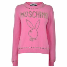 Moschino Stud Playboy Knitted Jumper