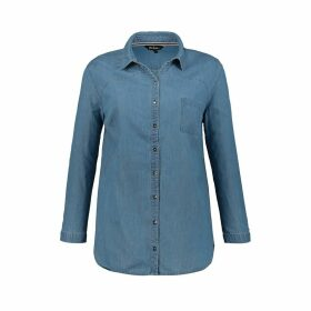 Denim Shirt with Long Sleeves and Pocket