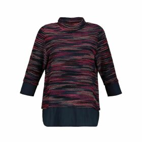 2-in-1 High Neck Jumper with 3/4 Length Sleeves