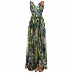 Dolce and Gabbana Jungle Maxi Dress