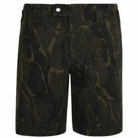 Saint Laurent Camouflage Shorts