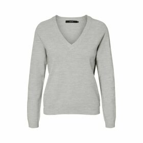 V-Neck Jumper in Fine Knit
