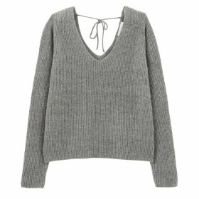 Jumper with V-Neck Front and Back