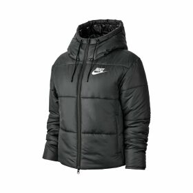 Hooded Zipped Down Padded Puffer Jacket with Pockets