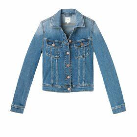 Straight Cut Denim Jacket with Pockets